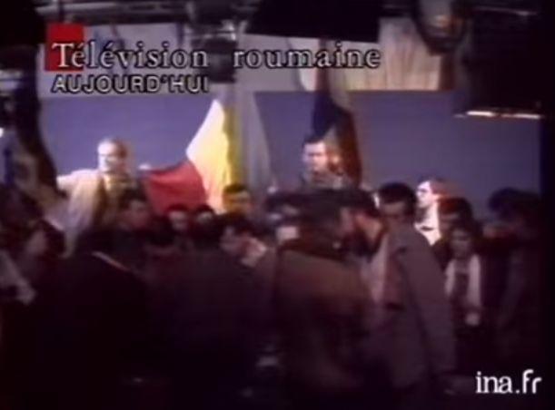 En 1989, les révolutionnaires roumains s'emparent de l'antenne