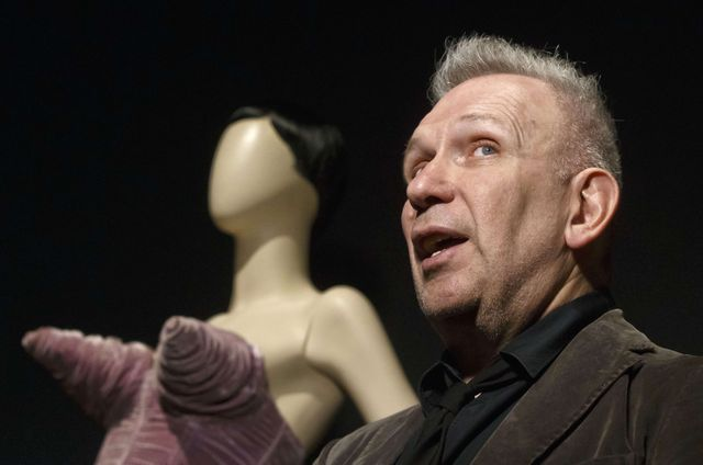 Le créateur Jean-Paul Gaultier, au Grand Palais, in Paris, France, le 31 mars 2015.