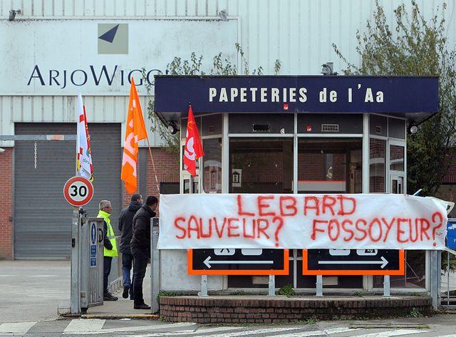 La papeterie Arjowiggins à Wizernes, dans le Nord-Pas-de-Calais, en 2014