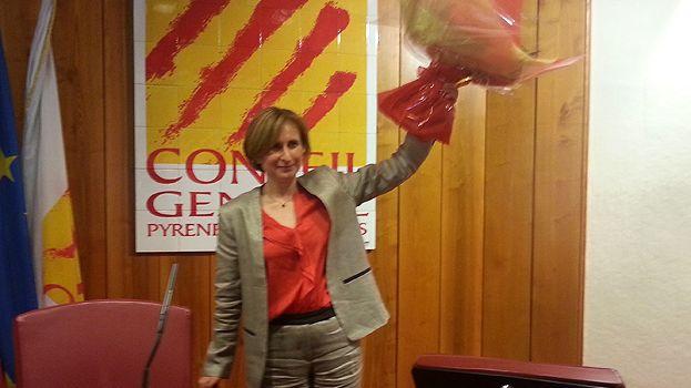 Hermeline Malherbe retrouve son siège de présidente des Pyrénées-Orientales