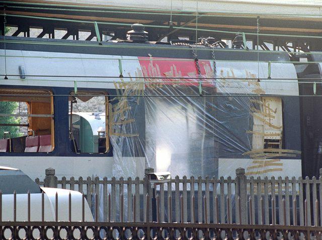 Attentat à la station RER Saint-Michel à l'été 1995, qui a fait 8 morts.
