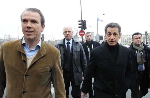 Guillaume Lambert et Nicolas Sarkozy durant la présidentielle de 2012