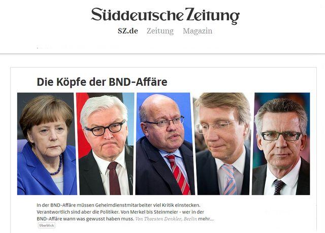 une du Sud Deutsche Zeitung