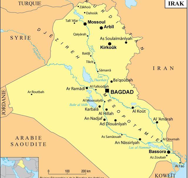 Carte de l'Irak, 2004