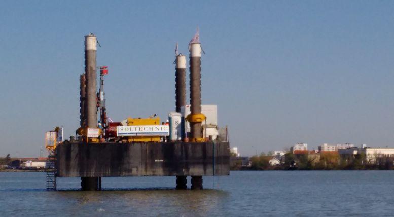 La pile n°3 du futur pont Jean-Jacques Bosc