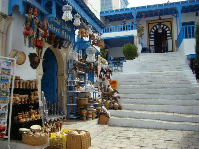 Boutique de souvenirs à Sidi boussaid