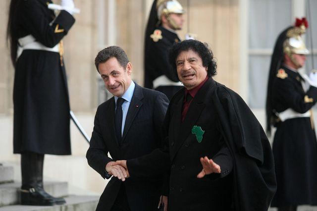 Kadhafi et Sarkozy à Paris en 2007