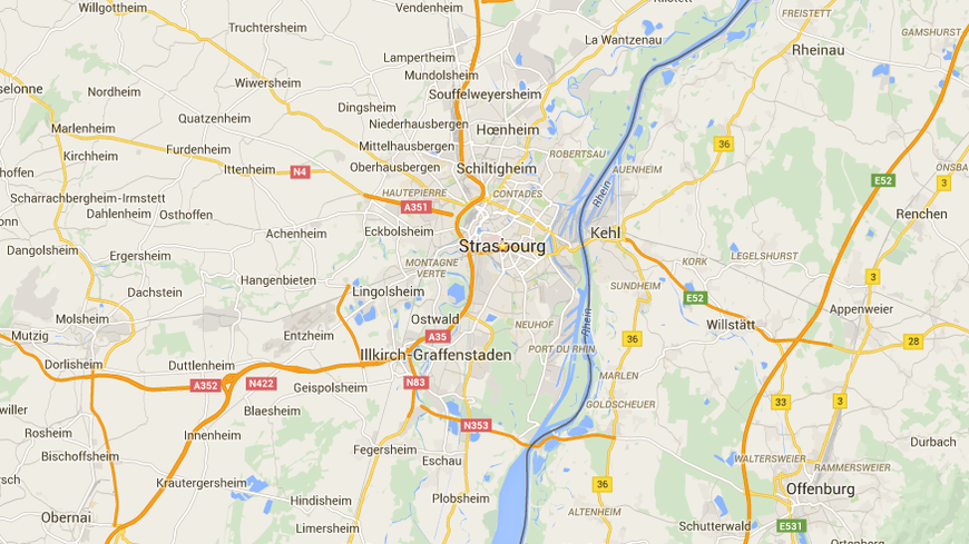 Strasbourg enfin (bien) visible sur Google Maps