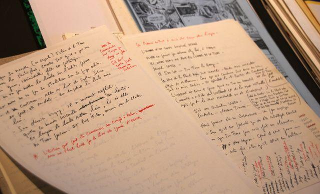 Saga, scénario de Jacques Lob (décédé en 1990) jamais dessiné. Sur la chemise le contenant, il avait écrit les noms des dessin