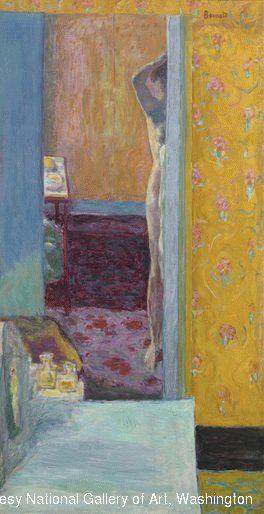 Pierre Bonnard, Nu dans un intérieur, huile sur toile 1912-1914