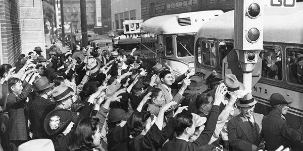 octobre 1941 - Départ de Japonais de Los Angeles pour être internés