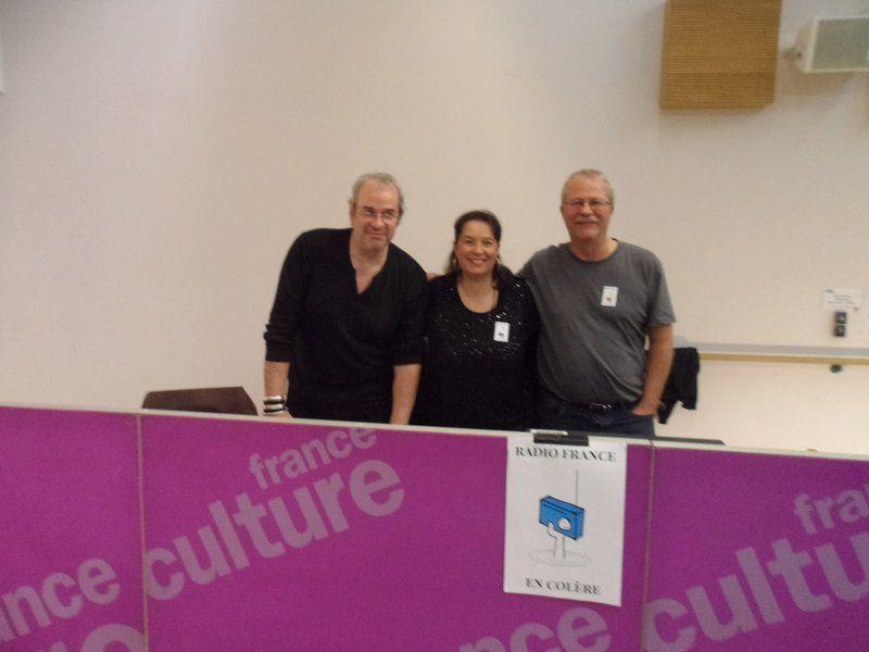 De gauche à droite : Patrice Klun, Anne Depelchin, Pierre Minne