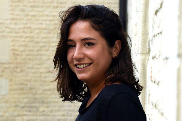 Izia Higelin, en promotion pour le film SAMBA, 08/10/14 .