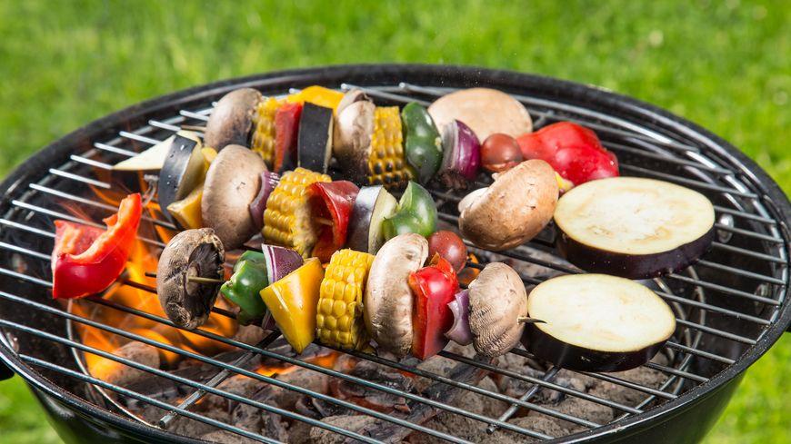 Barbecue vegan illustration