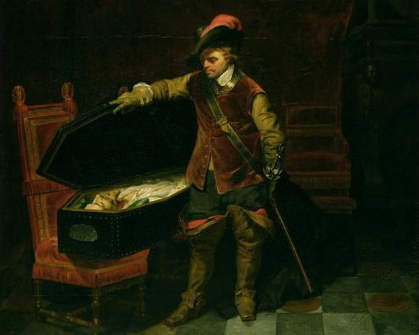 Cromwell et le corps de Charles Ier - tableau de Paul Delaroche - 1831