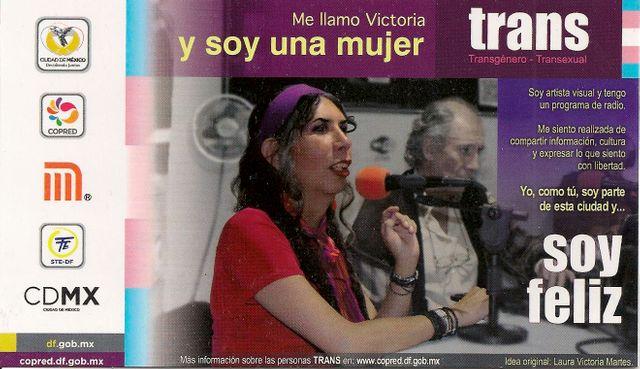Flyer de la campagne Mexico Trans