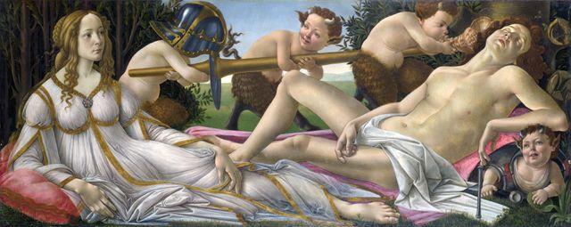 Venus et Mars de Botticelli