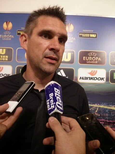 Jocelyn Gourvennec, entraîneur d'En Avant de Guingamp, après la défaite (3-0) à Florence