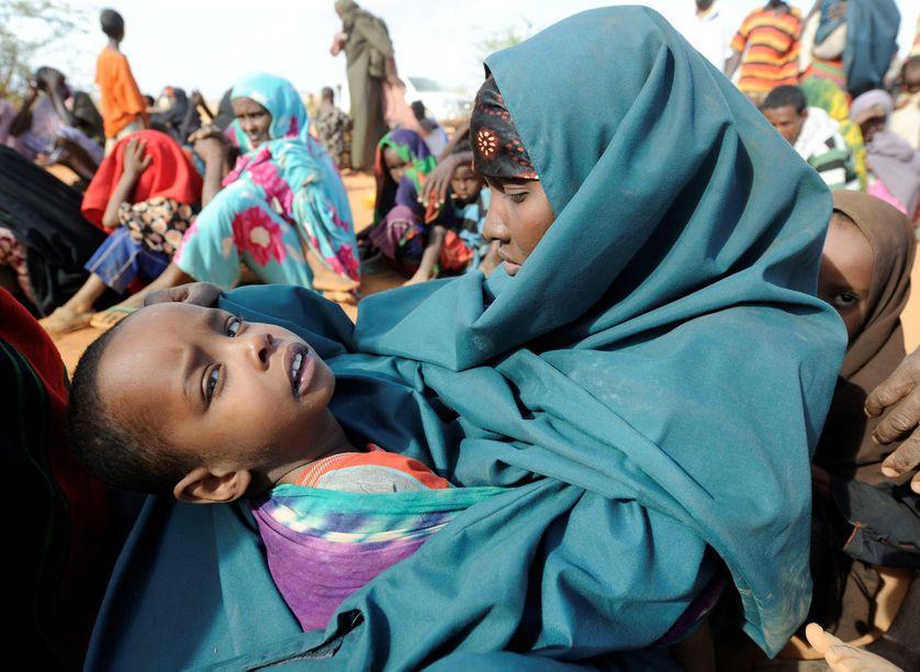 Arrivée de réfugiés somaliens dans le camp de Dadaab