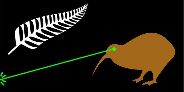 Un kiwi qui tire des lasers, le prochain drapeau néo-zélandais?