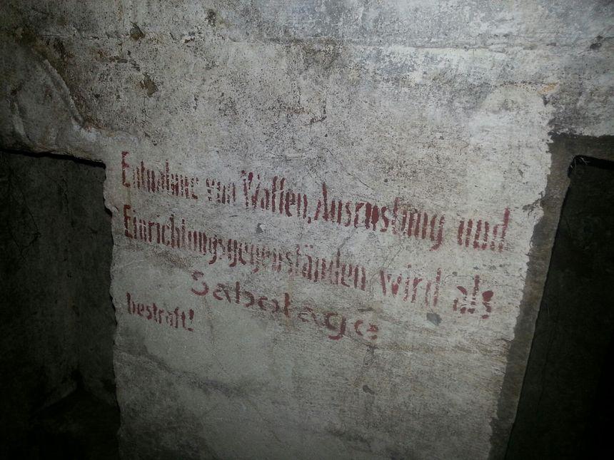 Des inscriptions en allemand