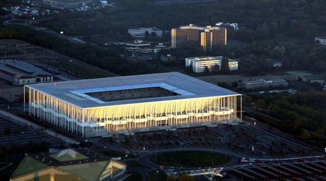 Le Nouveau Stade bordelais vu du ciel