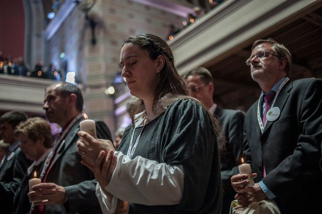 Messe protestante à Lyon en 2013