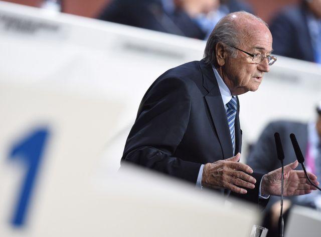 Sepp Blatter réélu président de la Fifa.