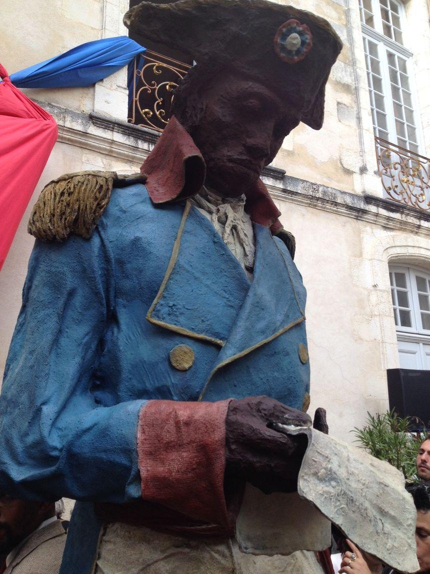 La statue de Toussaint Louverture sculptée par Ousmane Sow dans le musée du Nouveau Monde de La Rochelle.
