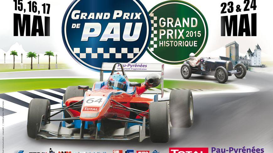 L'affiche du Grand Prix de Pau 2015