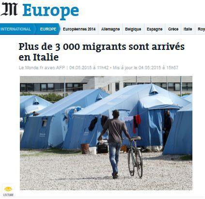 Migrants arrivés en Italie