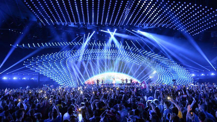 La scène du Concours eurovision de la chanson 2015, à Vienne