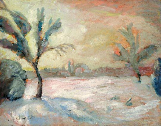 Paysage hivernal de Kecskemet, ville natale de Kodaly