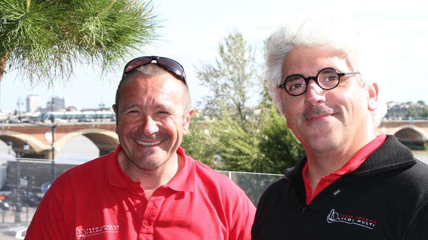 Lalou Roucayrol (à gauche) avec César Dohy