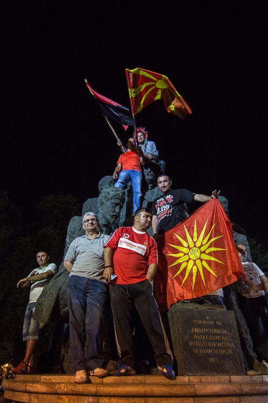 Manifestation en Macédoine