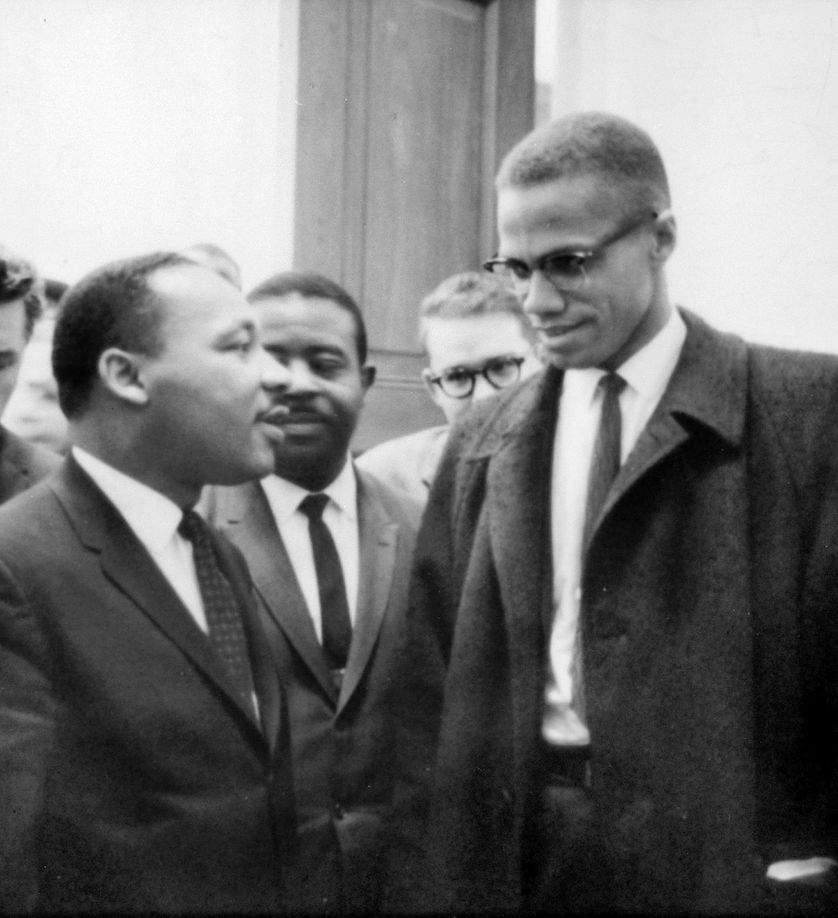 Malcolm X et Martin Luther King