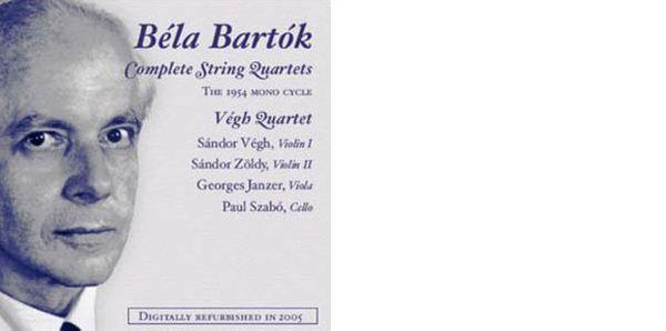 La première intégrale des quatuors de Bartók par le Quatuor Végh : le cycle mon de 1954, chez Music & Arts