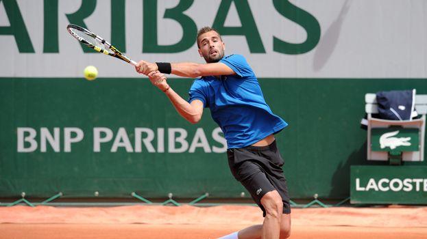 Benoît Paire lors du premier tour du tournoi de Roland-Garros