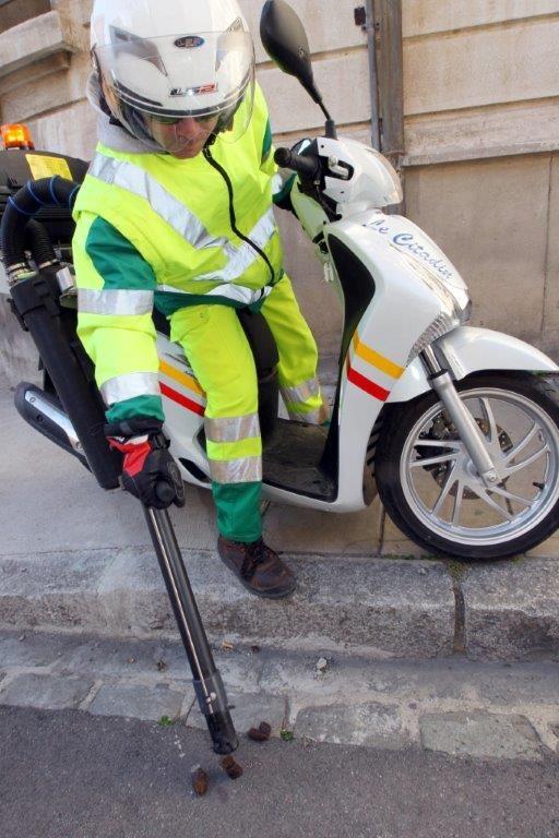 A Perpignan, il y a 7 moto-crottes.