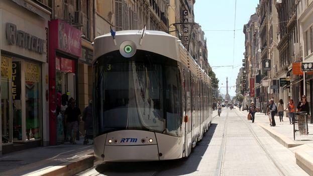Ligne 3 du tramway rue de Rome à Marseille