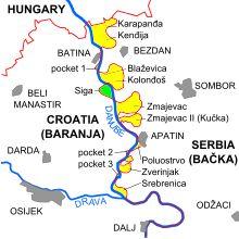 Liberland (en vert sur la carte)