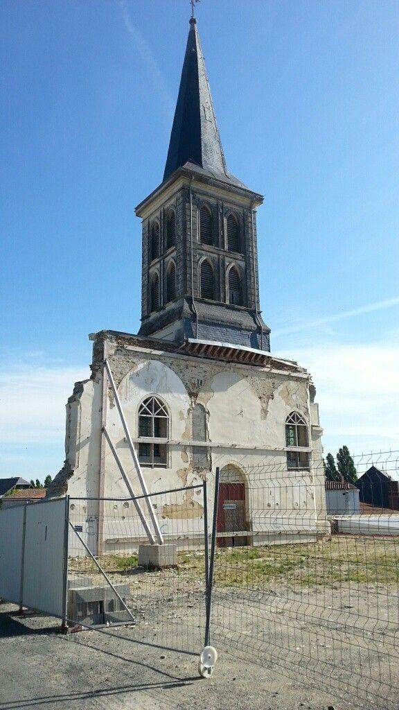 Église de Gesté détruite en 2013