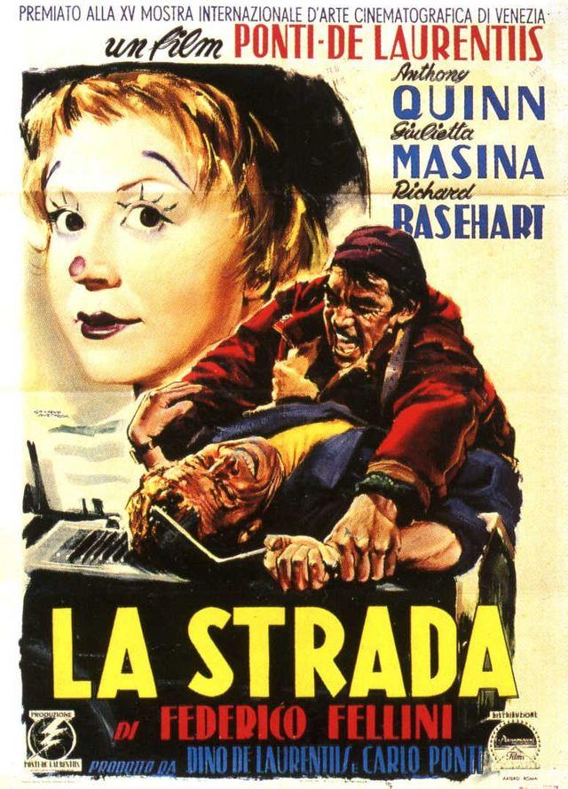 Affiche du film de Fellini La Strada