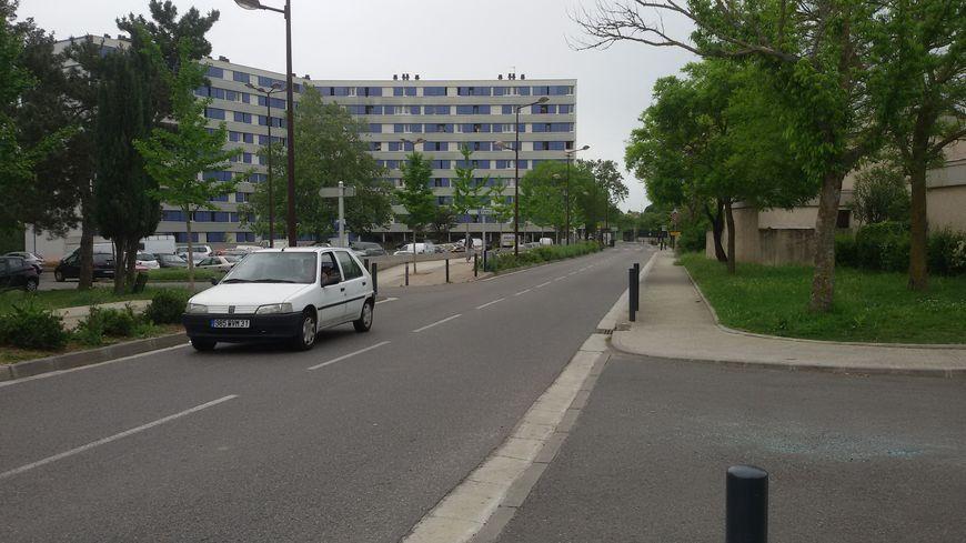 Le lieu de l'accident, chemin de Lestang