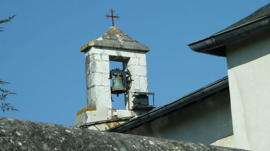Le clocher de l'église de Sarpourenx