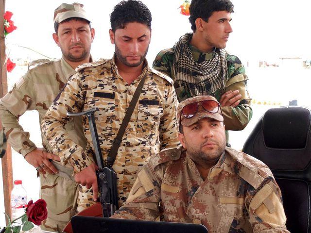 Des soldats à Al Alam, au nord de Bagdad