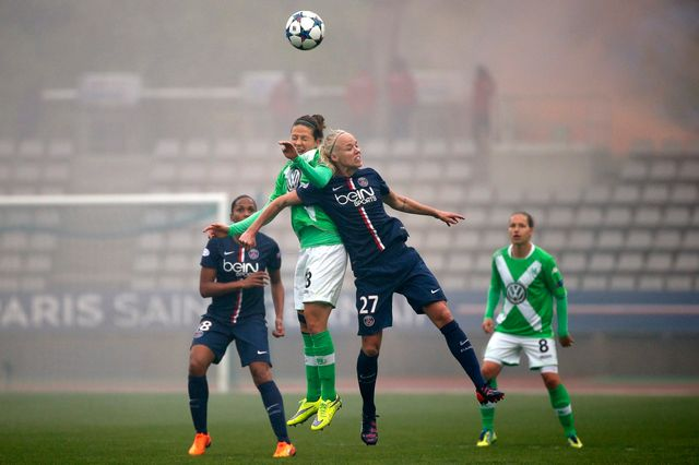 Paris Saint-Germain contre VfL Wolfsburg, le 26 avril 2015.