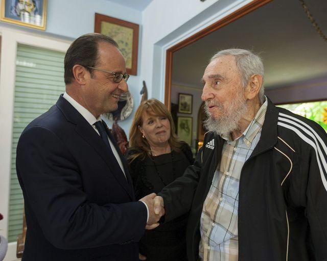 François Hollande rencontre Fidel Castro à Cuba