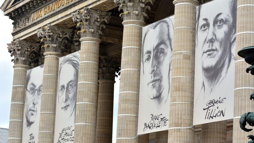 L'entrée du Panthéon pour l'arrivée des nouvelles personnalités