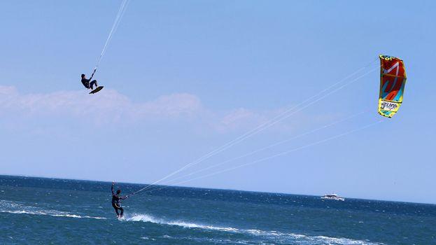 Compétition de kitesurf à Palavas-les-Flots